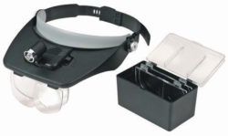 Peak-mounted, Illuminated Magnifier