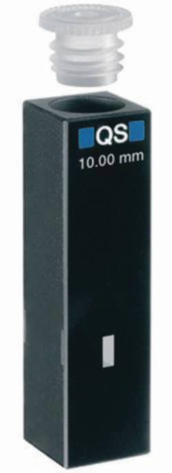 Ultra micro cells for absorption measurement, UV-range, quartz glass High Performance