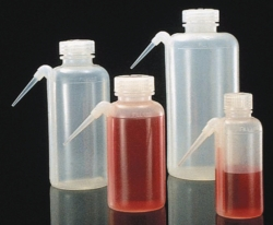 Wide-neck wash bottles, Unitary™, Type 2402, PE-LD, with screw cap, PP
