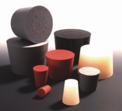 Silicone rubber stoppers