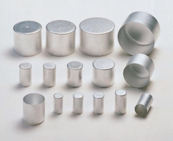 Aluminium caps, pure aluminium