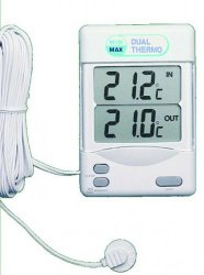 Maximum/Minimum Indoor/outdoor thermometer