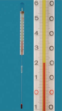 Enclosed-scale thermometers