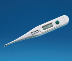Clinical thermometer, digital/glass