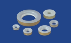 Silicone rubber seals, with PTFE washers, silicone rubber (VMQ)