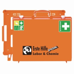First Aid Kit Special for Laboratories and Chemistry