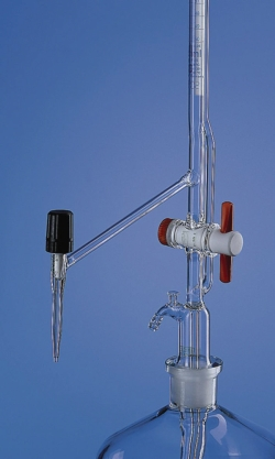 Automatic burettes, Pellet pattern, borosilicate glass 3.3, Class AS, with stopcock