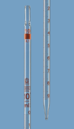 Graduated pipettes, Class B, AR-glass®, amber graduations, type 3