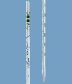 Graduated pipettes AR-GLAS®, class A, type graduated to contain, blue graduations