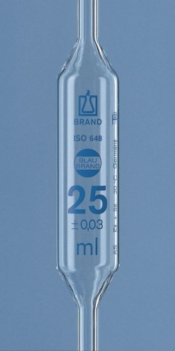 Volumetric pipettes, AR-glas®, class AS, 2 marks, blue graduation