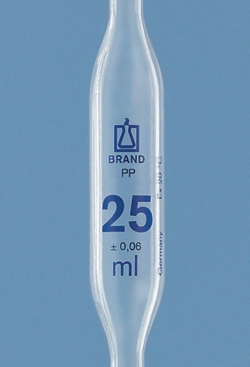 Volumetric pipettes, PP, 1 mark