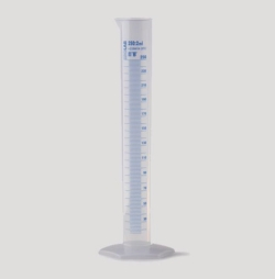 Measuring cylinders, PP, tall form, class B, blue graduated