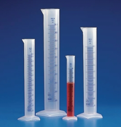 Graduated cylinders, PP, class B, embossed scale