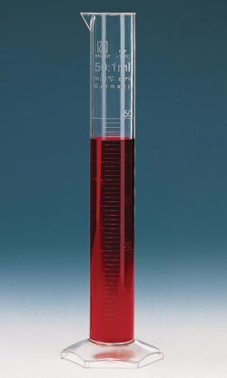 Measuring cylinders, PMP, Class B, moulded graduations