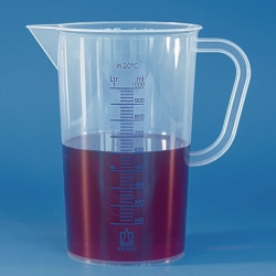 Measuring jugs, PP, blue scale or embossed