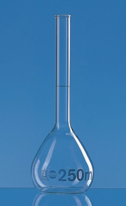 Volumetric flasks, borosilicate glass 3.3, class A