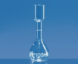 Volumetric flasks for sugar tests, Borosilicate glass 3.3, class B, white graduated