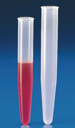 Graduated centrifuge tubes, conical, PP or PMP