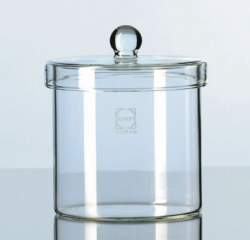 Glass cylinders with knob lid, DURAN®