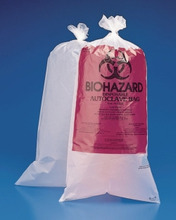 Biohazard waste bags, PE-HD