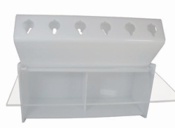 Pipettor rack, plastic