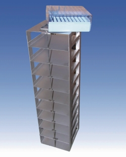 Square racks for cryogenic liquid dewars