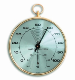Thermohygrometer, analogue