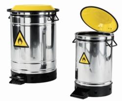 Disposal bin, stainless steel