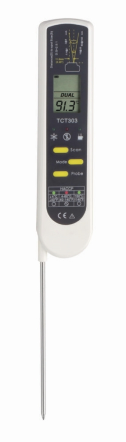 Infrared thermometer, DualTemp Pro, with penetration probe