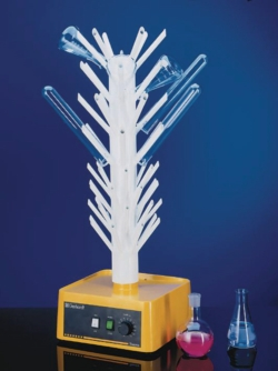 Flash dryer for laboratory glassware