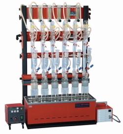 Complete Cyanide Distillation Unit, 6 Sample Places