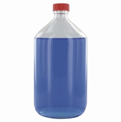 Narrow-mouth bottles, Glass, clear or amber, PTFE-lined screw caps