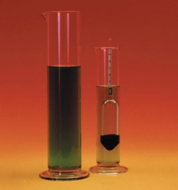Hydrometer jars, glass
