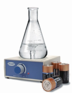 Magnetic stirrer SM27, with battery operation.