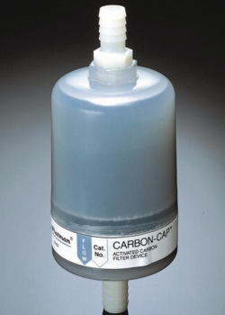 Disposable filtration capsules, Carbon cap