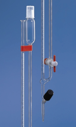 Micro burettes, Bang pattern, borosilicate glass 3.3, Class AS, with DAkkS calibration certificate