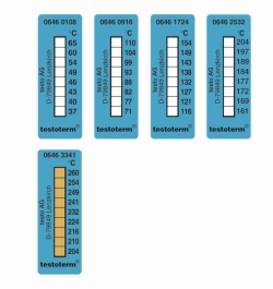 8-step irreversible temperature strips testoterm®