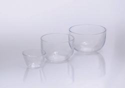 Crucibles, quartz glass, medium form