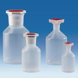 Sloping shoulder reagent bottles, wide-mouth, PP