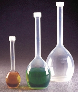 Volumetric flasks, PMP, PP