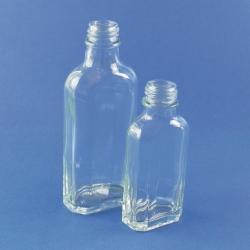 Bottles, glass, culture, flat, octagonal