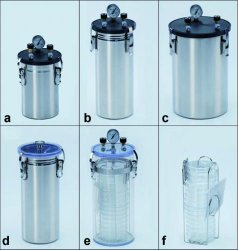 Anaerobic jars, stainless steel