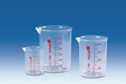 Griffin beakers PMP, crystal clear