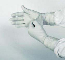 Cleanroom Gloves, KIMTECH PURE* G3 STERLING*, nitrile, powder-free, sterile