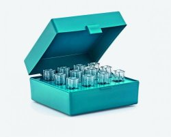 Cuvette rack with attached lid, PP