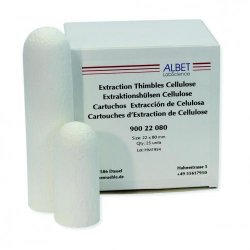 Extraction thimbles, cellulose