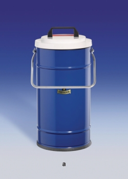 Dewar vessels, cylindrical, for CO2 and LN2
