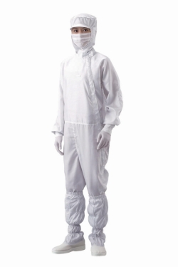 Overall for cleanroom, front zip, polyester