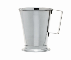 Measuring jugs with handle, stainless steel