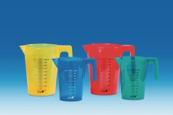 Graduated jugs, PP, coloured
